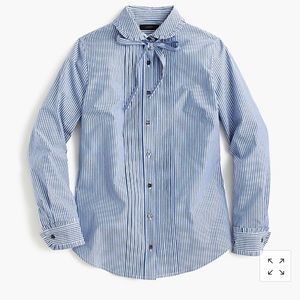 Jcrew button down with ruffled collar.